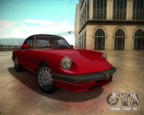 Alfa Romeo Spider 115 1986 para GTA San Andreas vista traseira