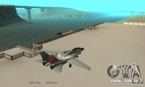 F14W Super Weirdest Tomcat Skin 2 para GTA San Andreas traseira esquerda vista