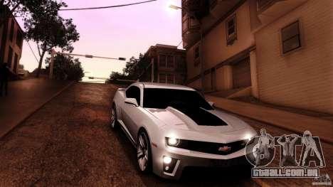 Chevrolet Camaro ZL1 2011 v1.0 para GTA San Andreas vista superior