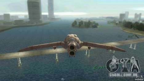 The Valley Gunship para GTA Vice City deixou vista