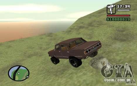 AZLK-2140 4x4 para GTA San Andreas vista superior