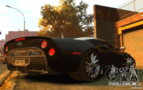 Spyker C8 Aileron para GTA 4 vista direita