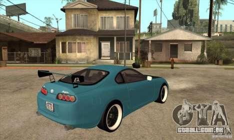 Toyota Supra Tuned para GTA San Andreas vista direita