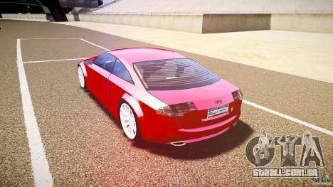 Audi Nuvollari Quattro para GTA 4 vista direita