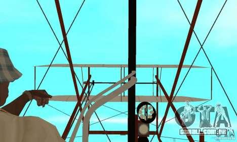 The Wright Flyer para GTA San Andreas vista traseira