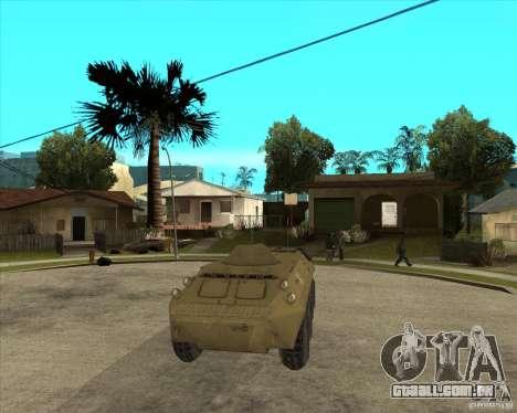 O APC da s. l. a. t. k. e. R para GTA San Andreas vista traseira