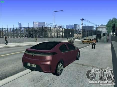 Opel Ampera 2012 para GTA San Andreas vista superior