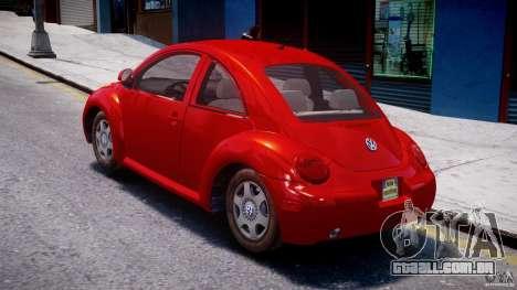 Volkswagen New Beetle 2003 para GTA 4 traseira esquerda vista