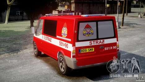 Ford Transit Polish Firetruck [ELS] para GTA 4 traseira esquerda vista