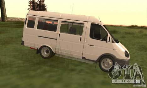 Gazela 32213 Novosibirsk Minibus para GTA San Andreas esquerda vista