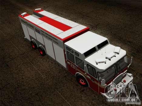E-One F.D.N.Y Fire Rescue 1 para vista lateral GTA San Andreas
