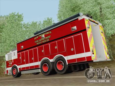 Pierce Walk-in SFFD Heavy Rescue para o motor de GTA San Andreas