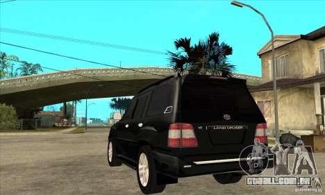 Toyota Land Cruiser 100vx v2.1 para GTA San Andreas vista direita
