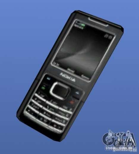 Telefone celular Nokia 6500 para GTA 4