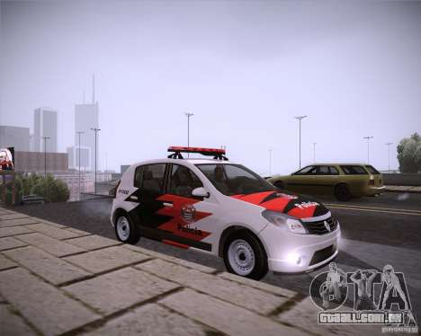 Renault Sandero Policia para GTA San Andreas vista direita