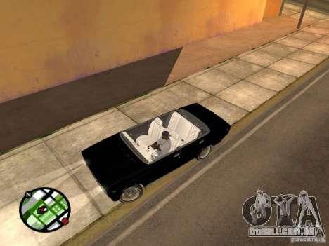 2105 Vaz show v 1.3 para GTA San Andreas esquerda vista
