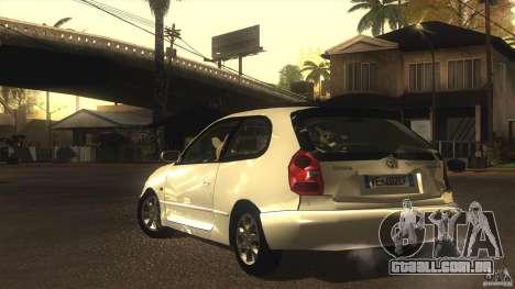 Toyota Corolla G6 Compact E110 EU para GTA San Andreas vista interior