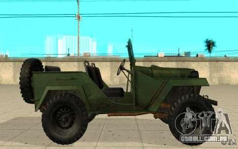 Gaz-67 para GTA San Andreas esquerda vista