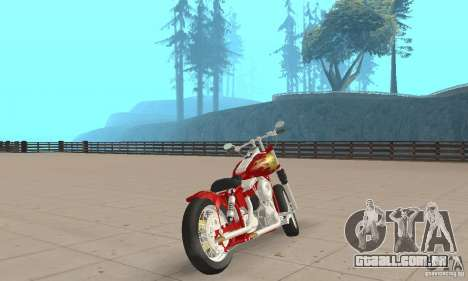 Orange County old school chopper Sunshine para GTA San Andreas esquerda vista