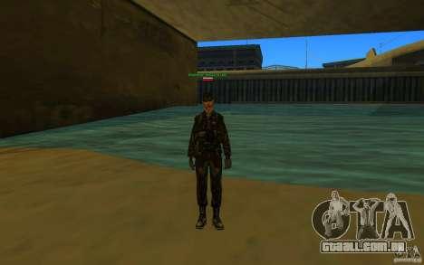 HQ skin Army para GTA San Andreas terceira tela