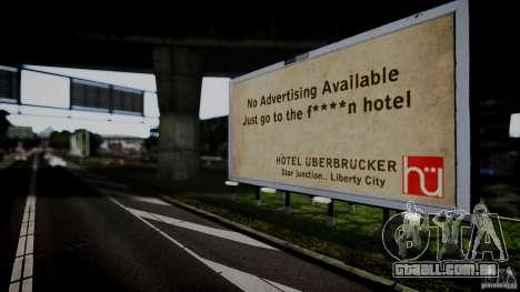 Realistic Airport Billboard para GTA 4 por diante tela