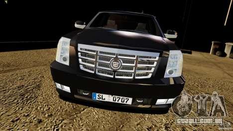 Cadillac Escalade 2007 v3.0 para GTA 4 vista direita