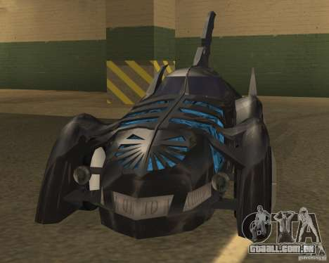 Batmóvel para GTA San Andreas esquerda vista
