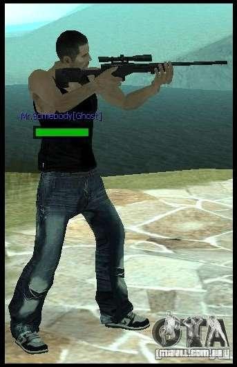 [Point Blank] L115A1 [Black] para GTA San Andreas segunda tela
