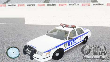 Ford Crown Victoria 2003 NYPD para GTA 4 esquerda vista