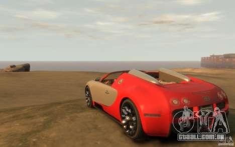 2009 Bugatti Veyron Grand Sport [EPM] para GTA 4 traseira esquerda vista