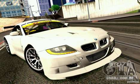 BMW Z4 E85 M GT 2008 V1.0 para GTA San Andreas traseira esquerda vista