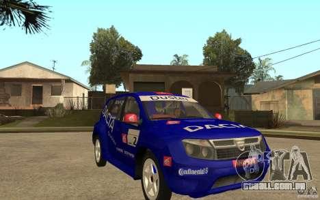 Dacia Duster Rally para GTA San Andreas vista traseira