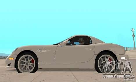 Panoz Esperante GTLM 2005 para GTA San Andreas traseira esquerda vista