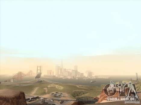 Um realista Timecyc para GTA San Andreas por diante tela