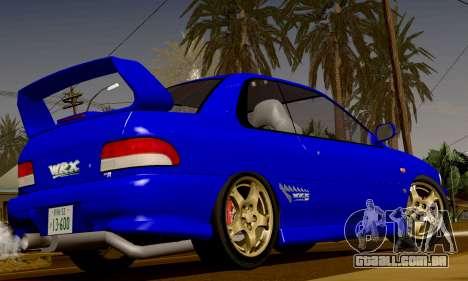 Subaru Impreza WRX GC8 InitialD para GTA San Andreas vista traseira