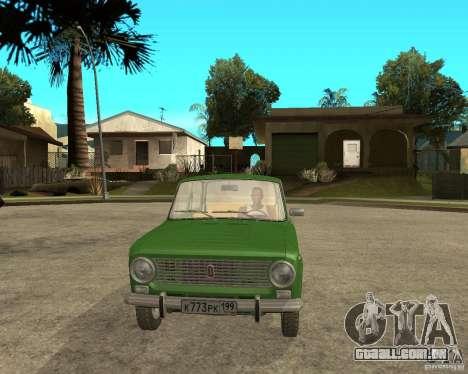 VAZ 2101 Kopek para GTA San Andreas vista traseira