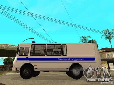 Polícia de PAZ 3205 para GTA San Andreas esquerda vista