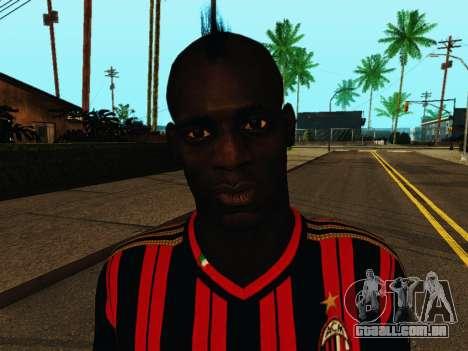 Mario Balotelli v1 para GTA San Andreas sexta tela