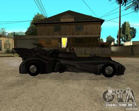 Batmobile para GTA San Andreas vista direita