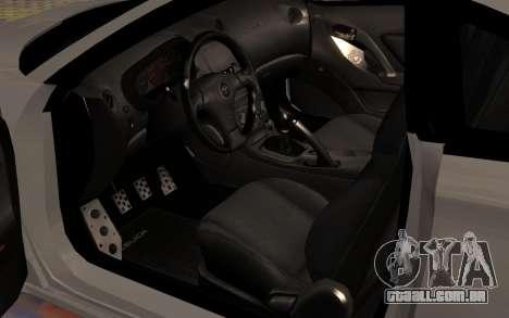 Toyota Celica 2JZ-GTE para GTA San Andreas vista inferior