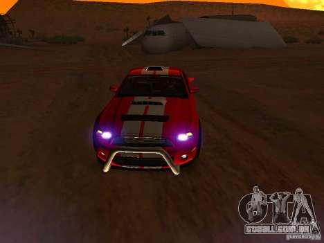 Ford Shelby GT500 para as rodas de GTA San Andreas