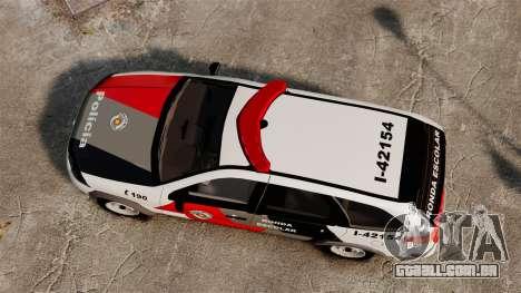 Fiat Palio Weekend Trekking 2013 PMESP ELS para GTA 4 vista direita
