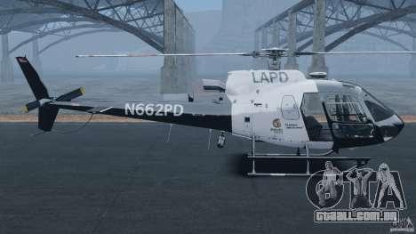 Eurocopter AS350 Ecureuil (Squirrel) para GTA 4 esquerda vista