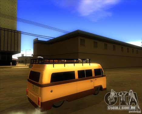 Volkswagen Kombi Classic Retro para GTA San Andreas vista direita