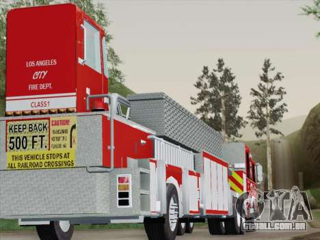 Pierce Arrow XT LAFD Tiller Ladder Trailer para GTA San Andreas vista superior