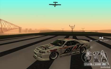 Nissan Skyline ER34 D1GP Blitz para GTA San Andreas traseira esquerda vista
