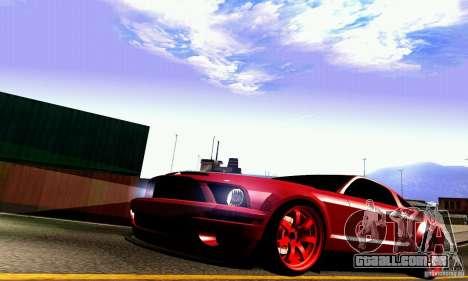 Shelby GT500 KR para GTA San Andreas vista superior