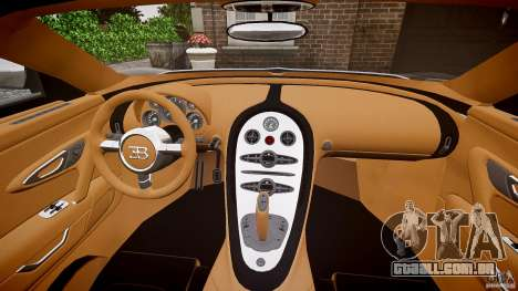Bugatti Veyron Grand Sport [EPM] 2009 para GTA 4 vista superior