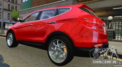 Hyundai Santa Fe Sport 2013 para GTA 4 vista direita