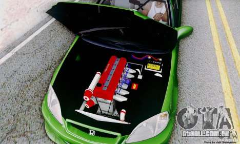 Honda Civic Si Sporty para vista lateral GTA San Andreas